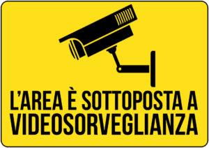 cartello zona videosorvegliata