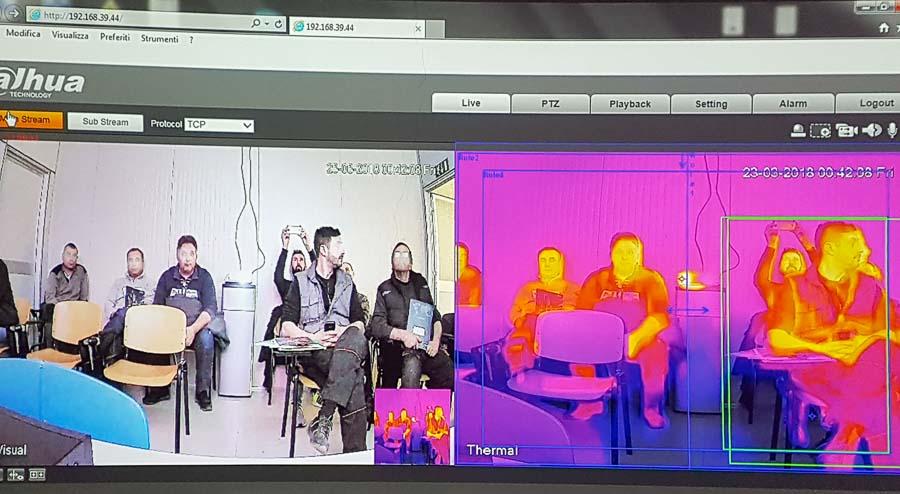 Immagini della telecamera termica della Dahua