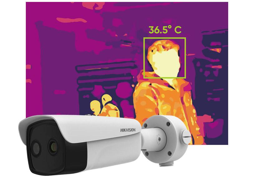 telecamera termografica portatile hikvision bullet
